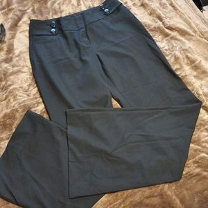 The Limited Size 4 Charcoal Wide Leg Dress Pants